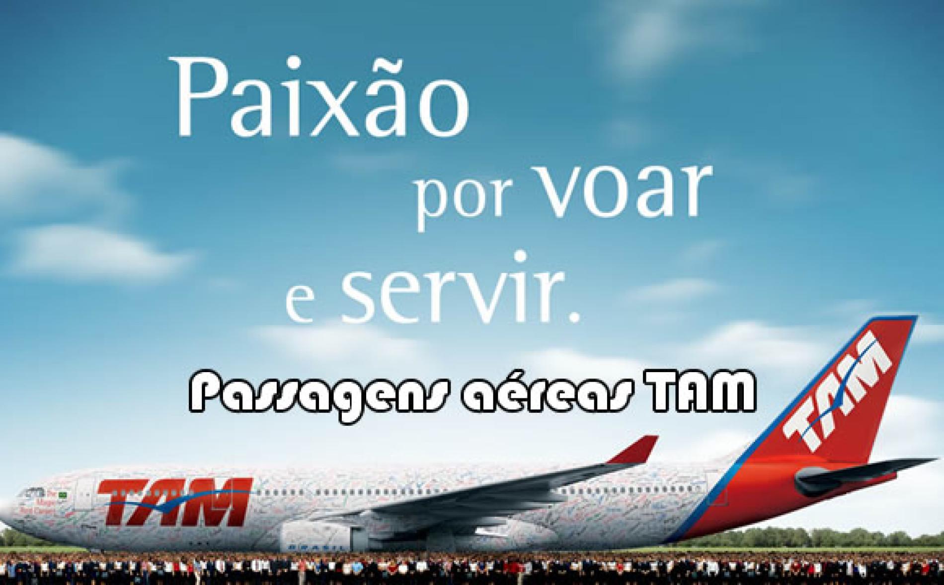 Como fazer para comprar passagens aéreas em promoção TAM