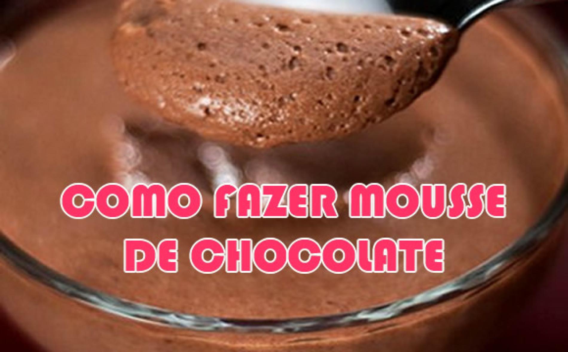 Como fazer mousse de chocolate – Fácil e rápido