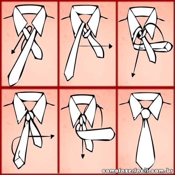 como fazer no de gravata windsor