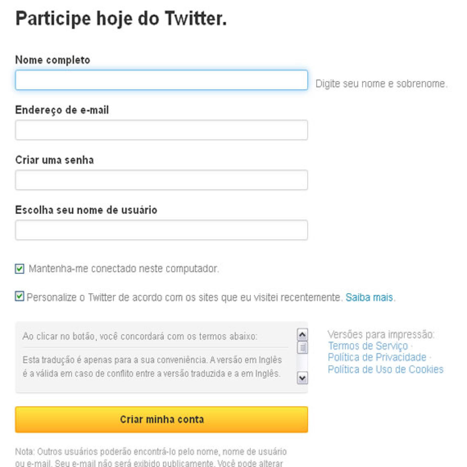 Como fazer Twitter no Twitter.com