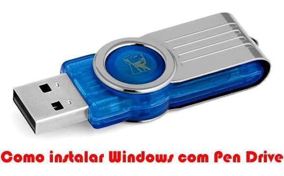 como instalar windows com pen drive
