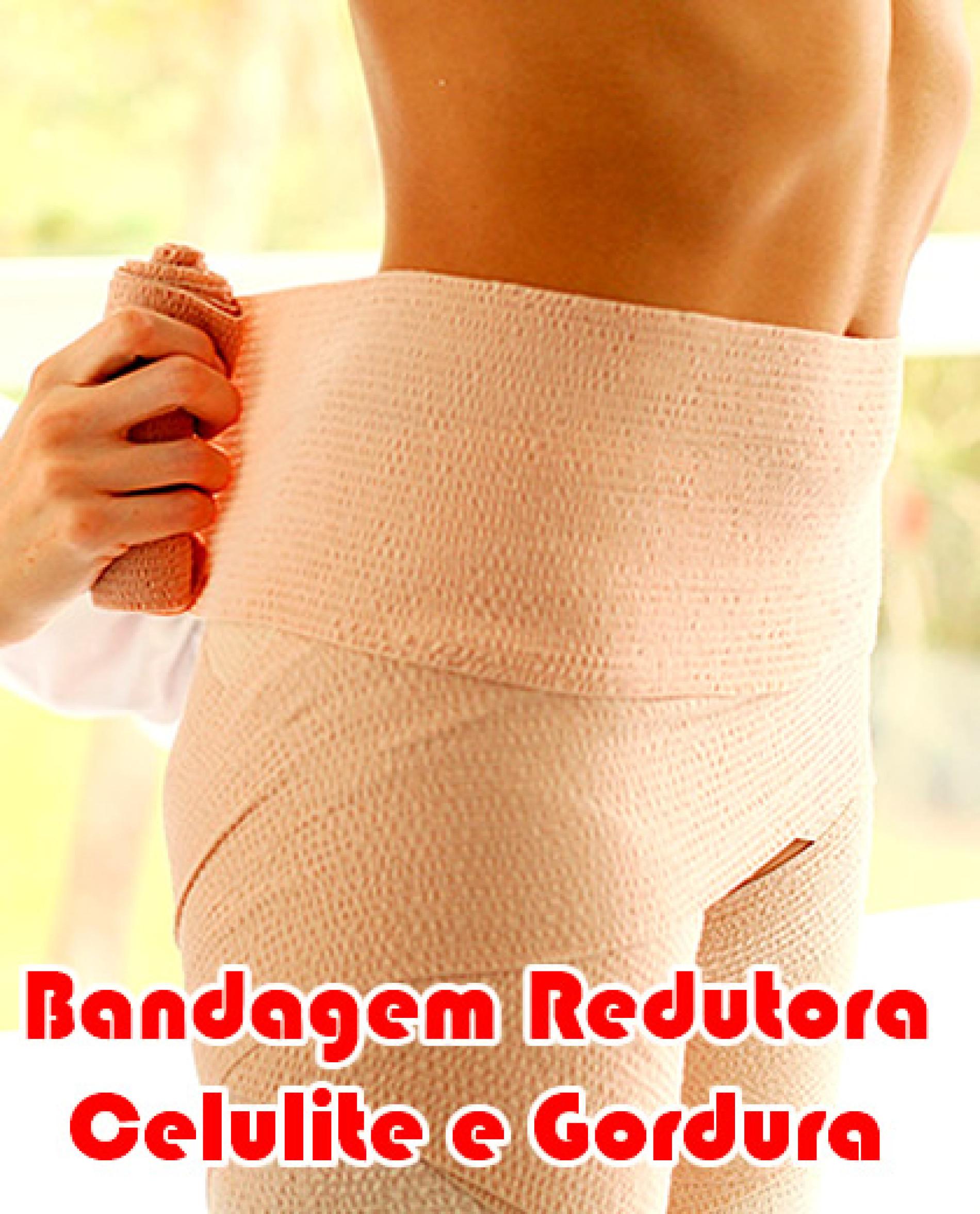 Como fazer Bandagem Redutora caseira de gordura e celulite