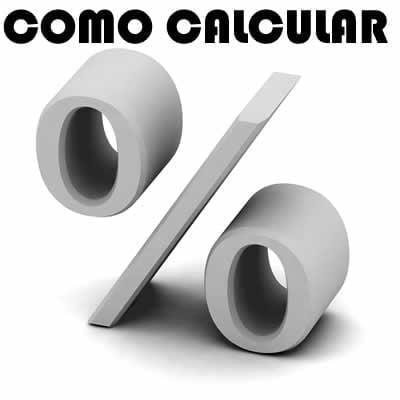 como fazer conta porcentagem, calcular porcento