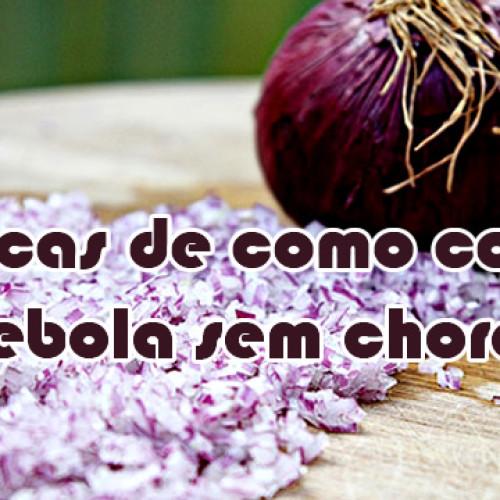 5 dicas para cortar cebola sem chorar