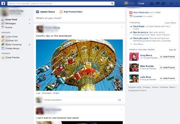 novo layout facebook designer timeline