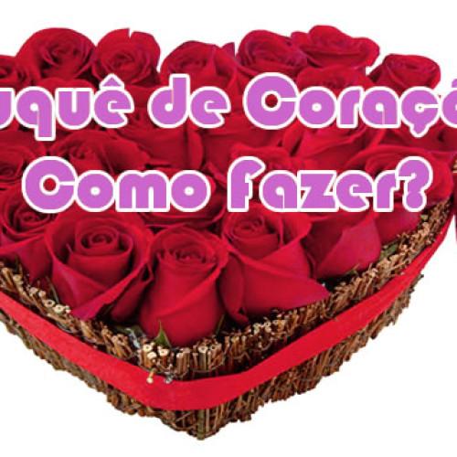 Como fazer um lindo buquê coração de rosas para presente