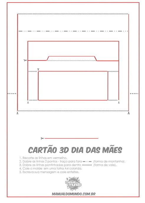 cartao dia das maes 3d