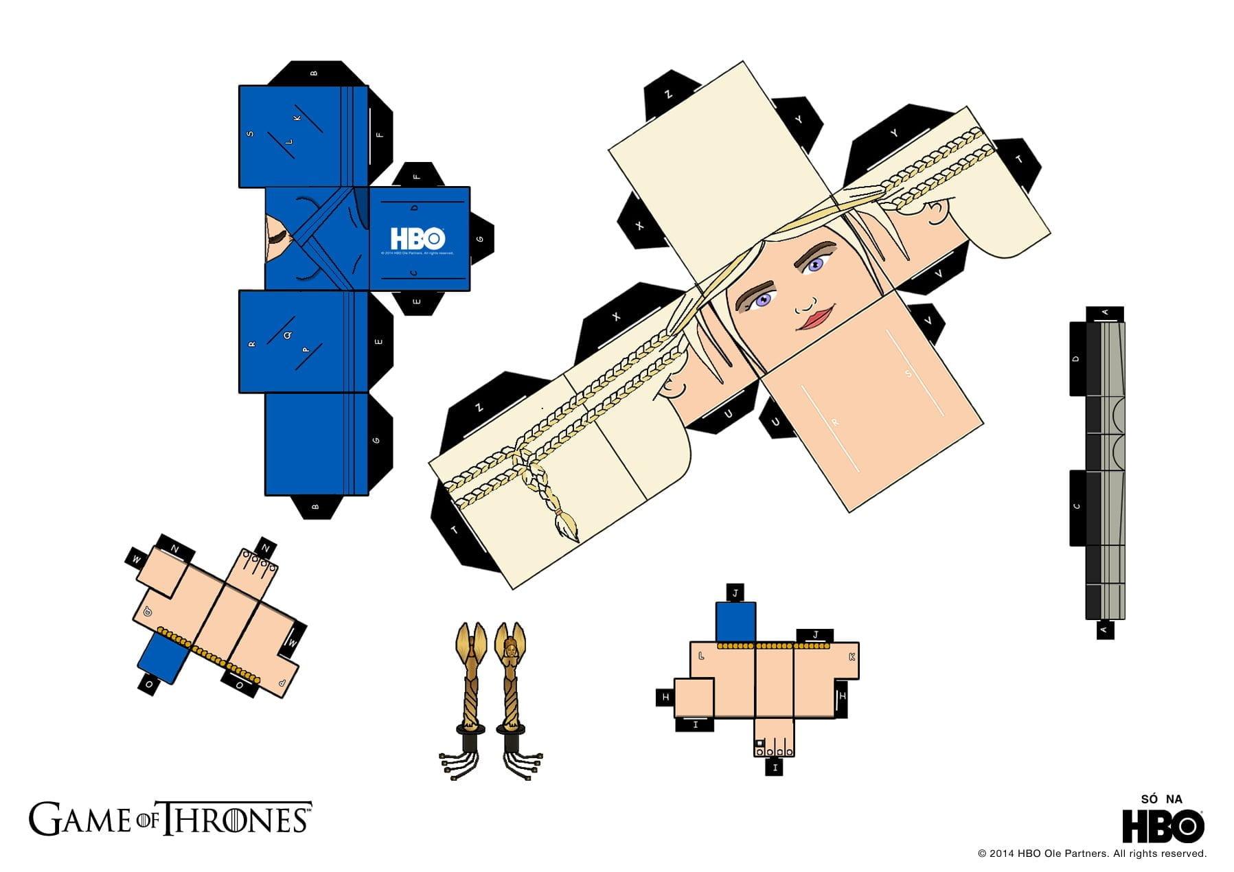 como fazer daenerys targaryen paper toy