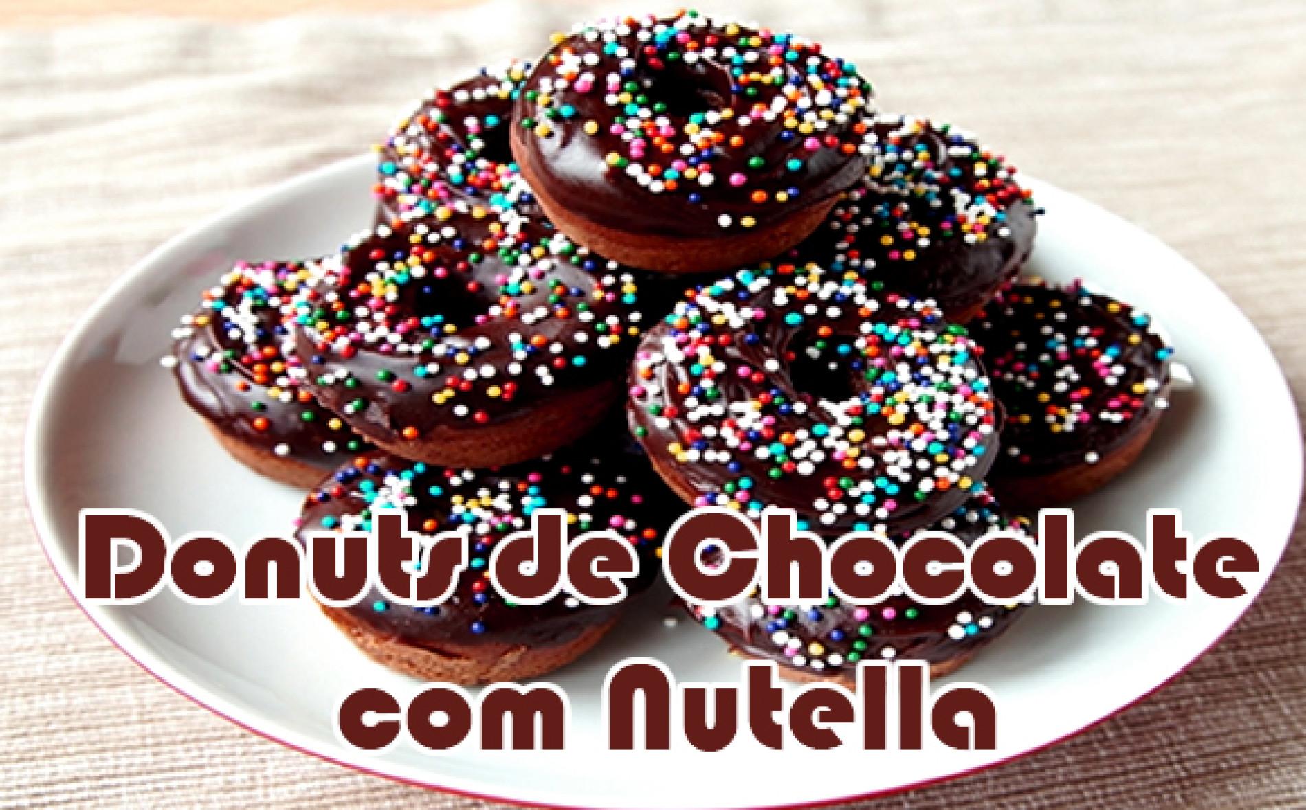 Como fazer Donuts de Chocolate com Nutella
