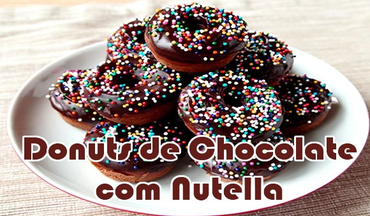 como fazer donuts chocolate nutella