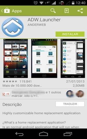 como mudar tema celular android adw launcher