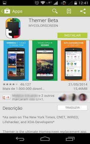 como mudar tema celular android themer play store