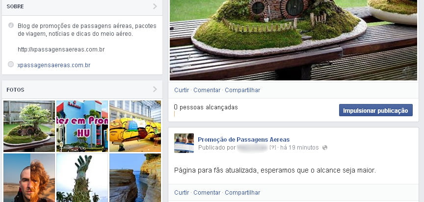 fan page facebool atualizada