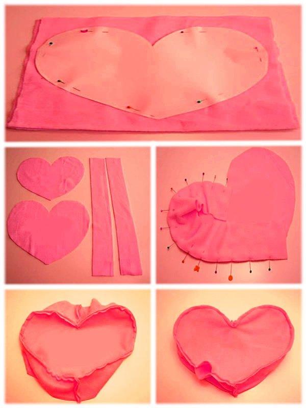 como fazer almofada coracao dia dos namorados
