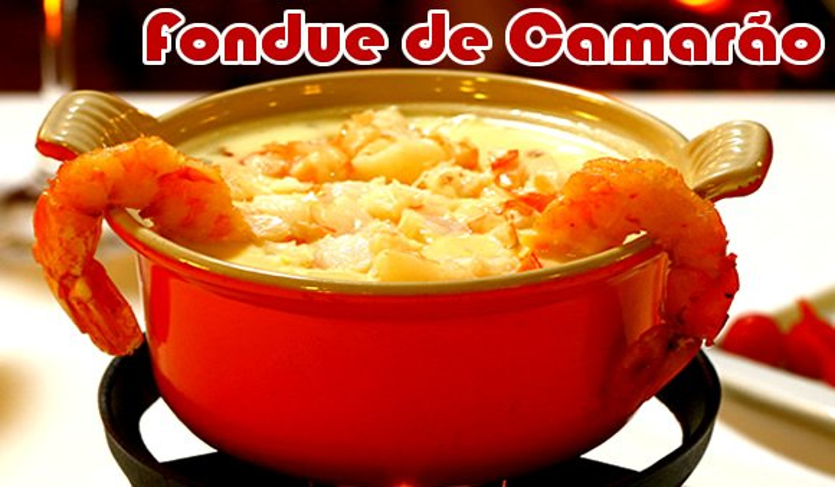 como fazer fondue camarao