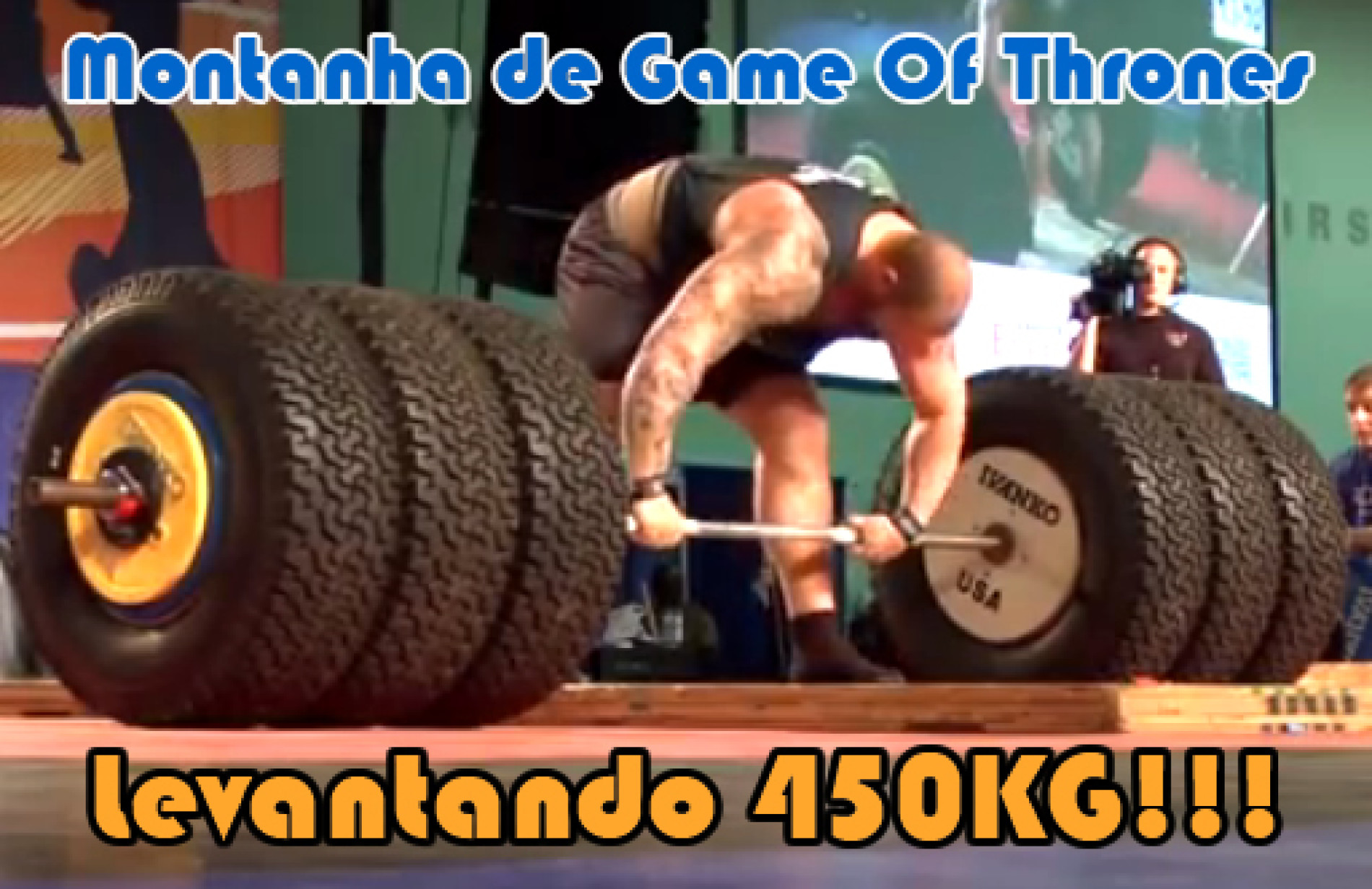 Hafthor Julius Montanha de Game of Thrones levantando 450kg
