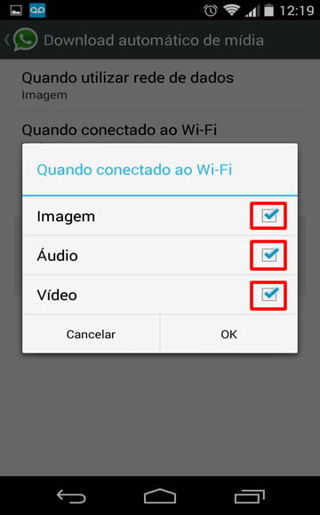 desativar download automatico whatsapp