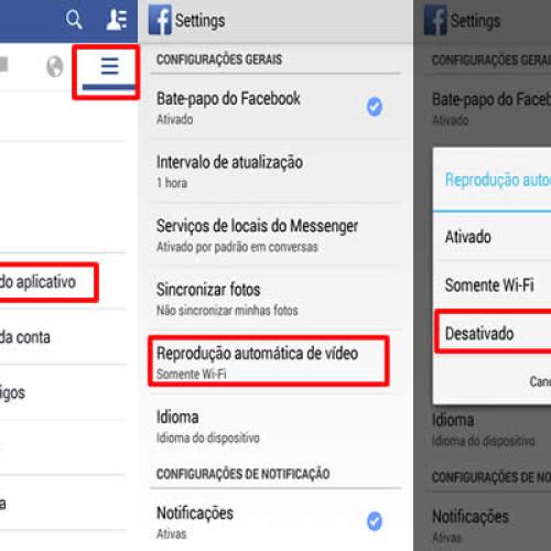 Como desligar a reprodução automática de vídeos do Facebook