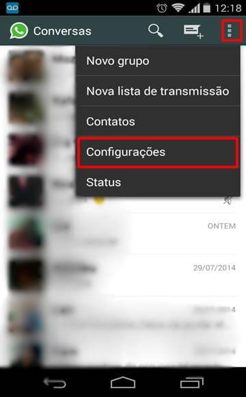 passo a passo whatsapp desativando download fotos videos