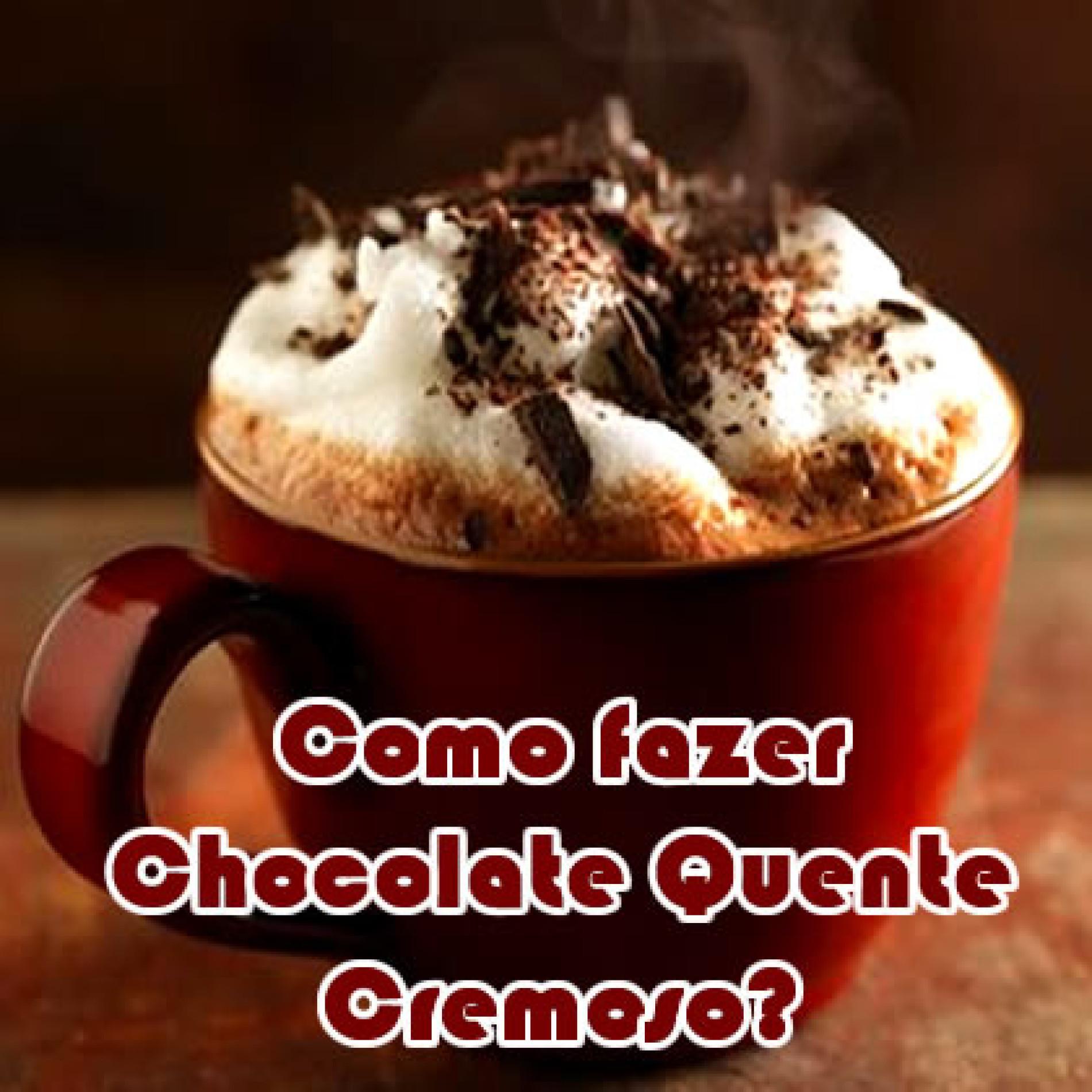 Aprenda como fazer o melhor chocolate quente cremoso