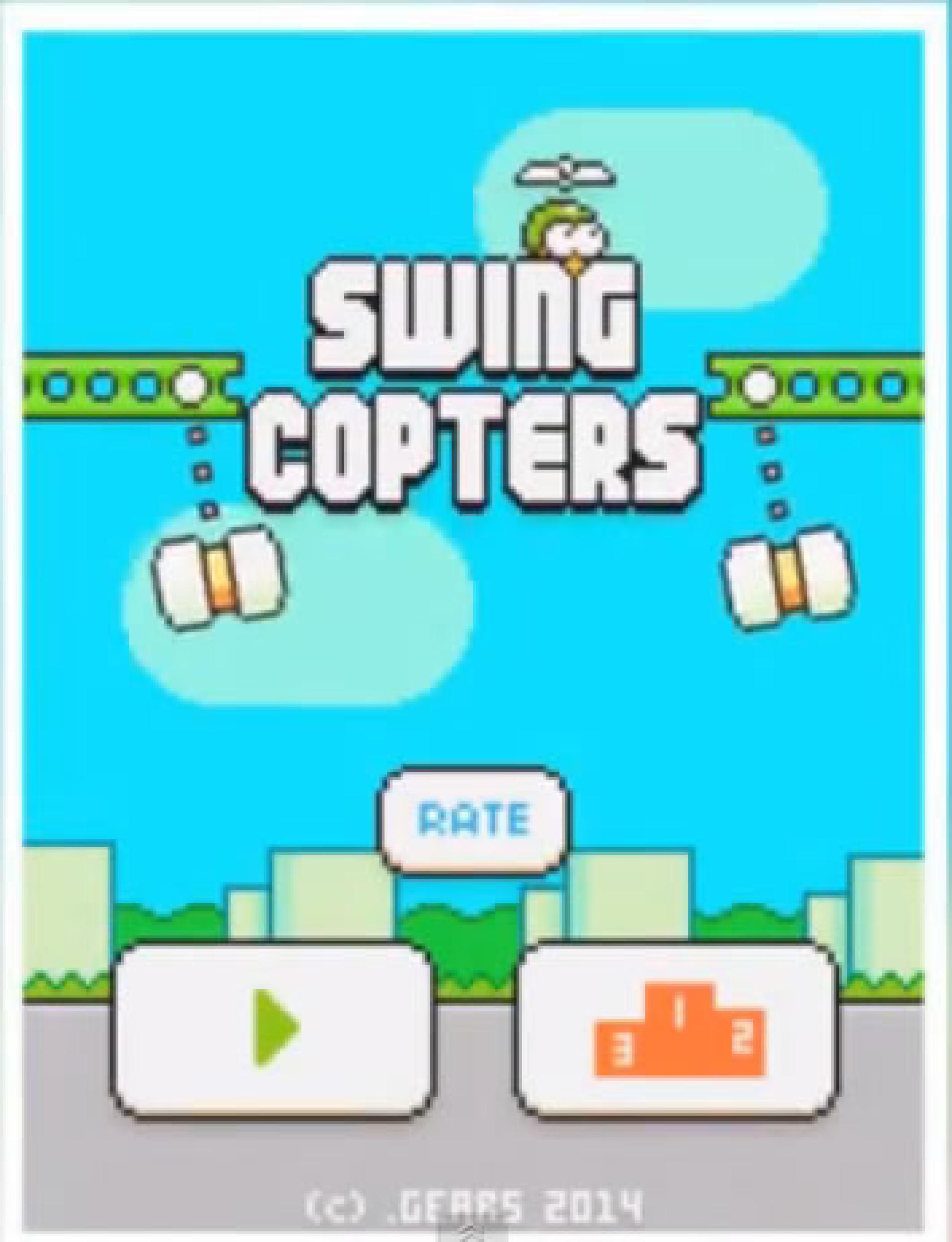 Como jogar SWING COPTERS – Android e IOS