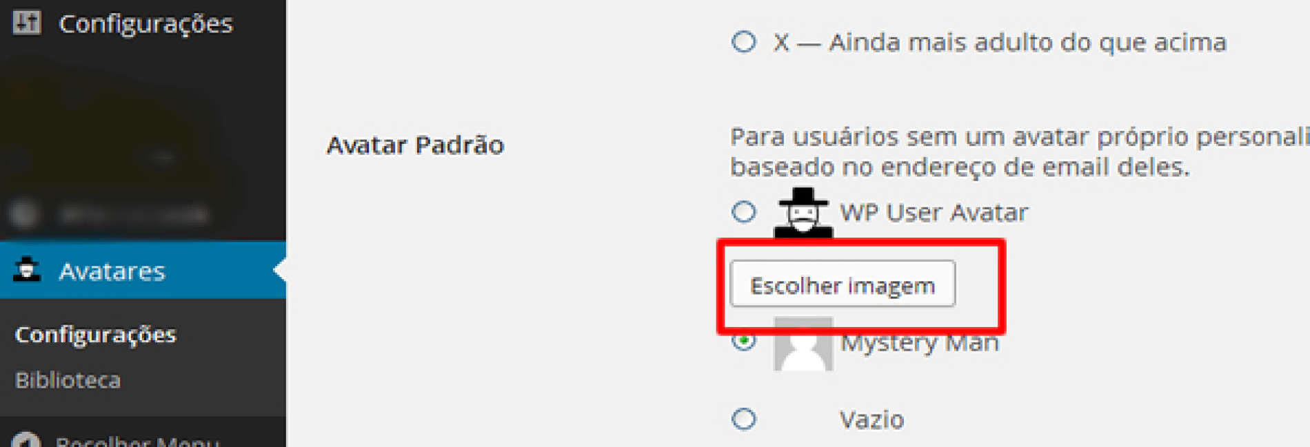 Como trocar a foto do perfil no WordPress?