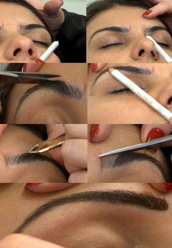 como fazer sobrancelha sozinha