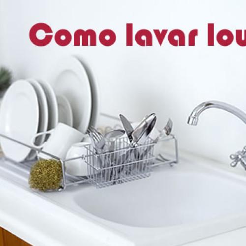 Como lavar louça?