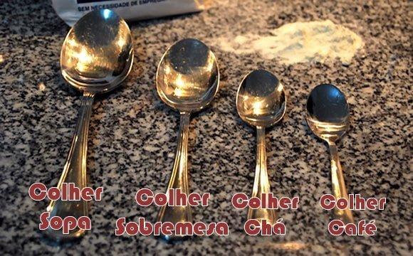 tabela medidas cozinha colheres xicaras copos