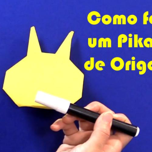 Como fazer Origami Pokemon – Pikachu