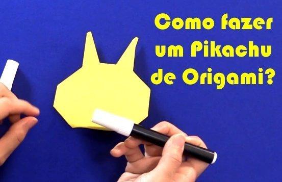 como fazer pikachu de origami