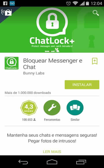senha no whatsapp chatlock