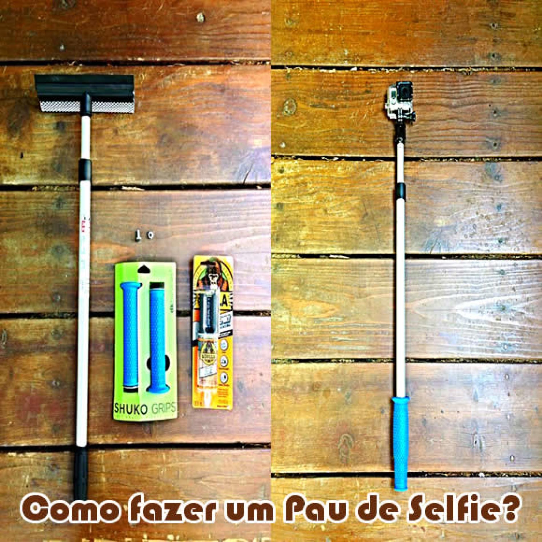 Como fazer um pau de selfie barato DIY