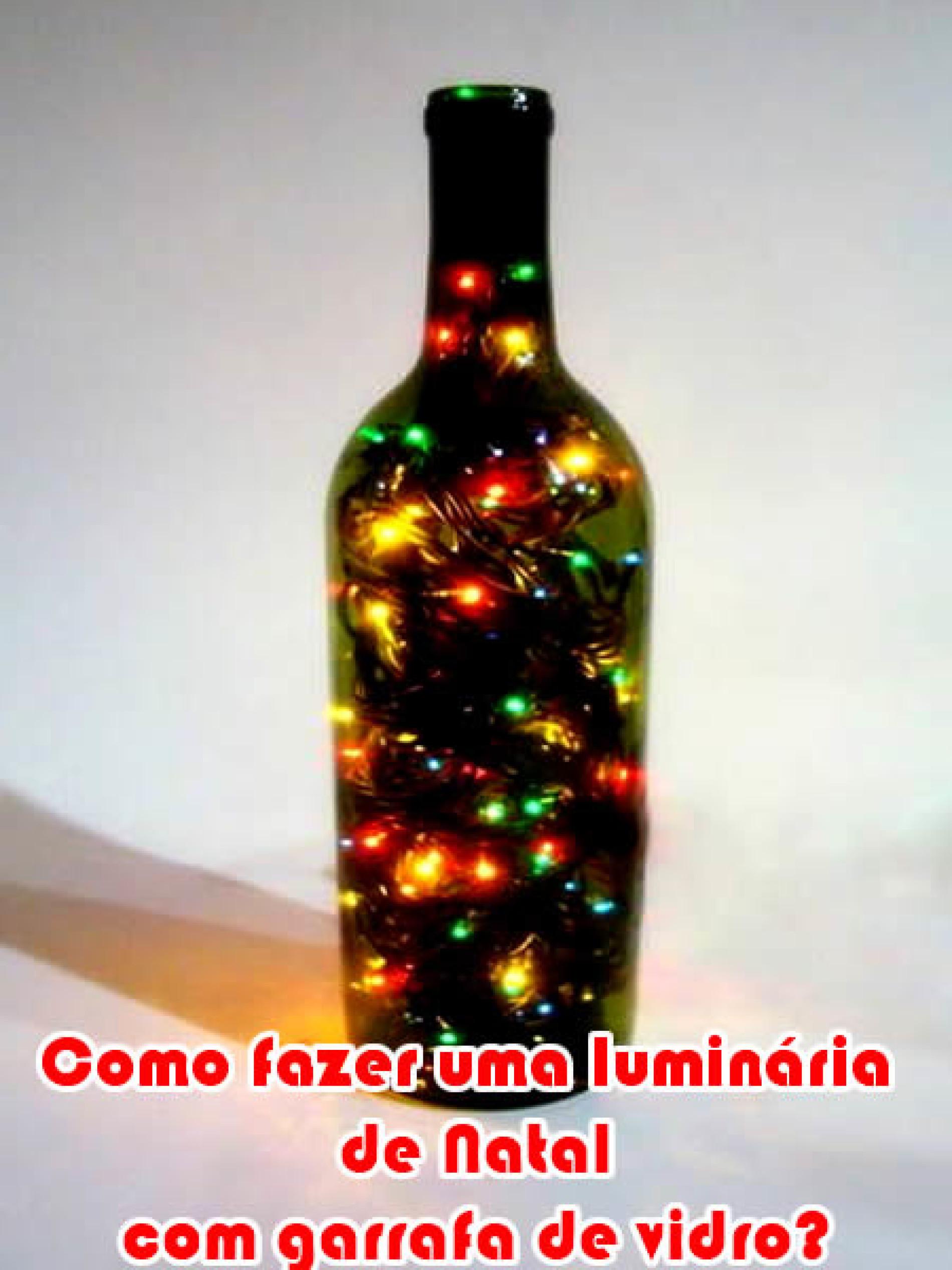 Como fazer uma arvore de natal luminária na garrafa