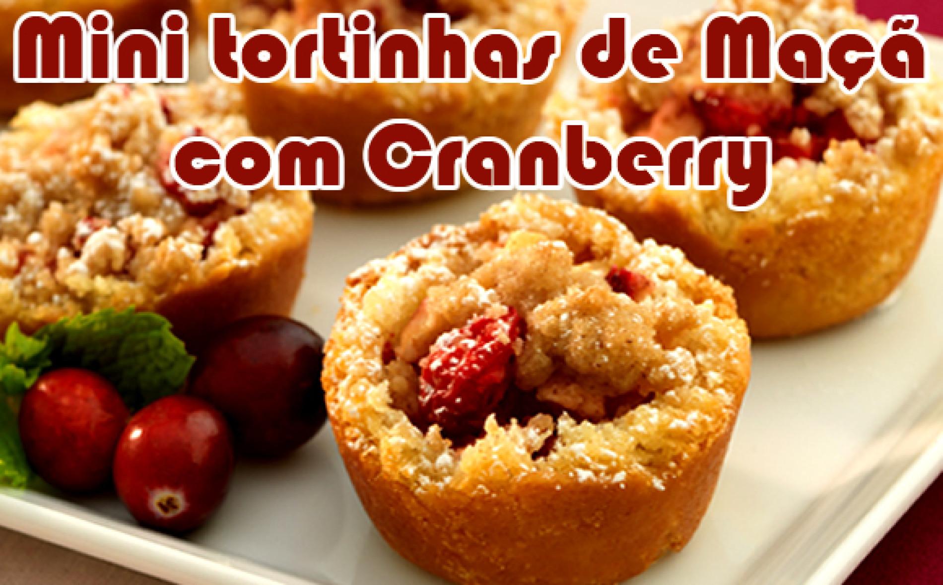 Mini tortas de maçã com Cranberry de natal