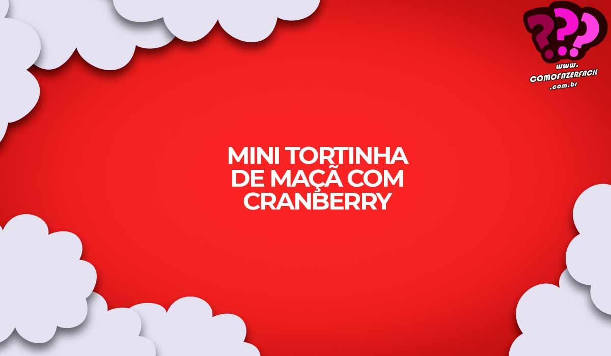 mini torta de maca com cranberry