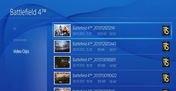 selecionar gameplay upload ps4