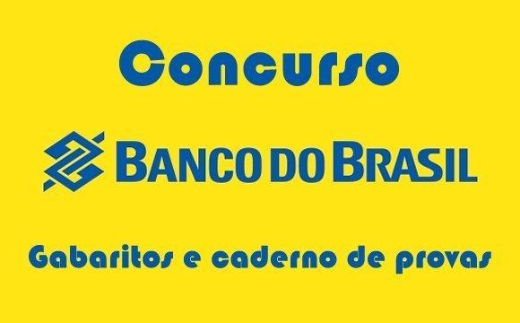 concurso banco do brasil gabarito caderno provas