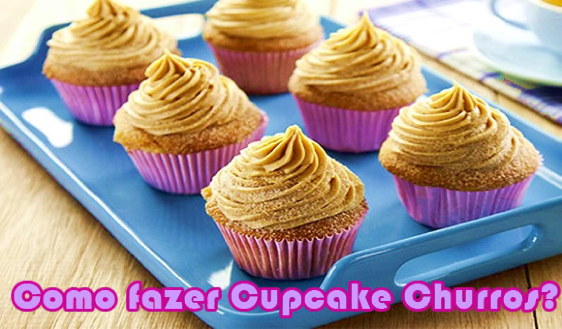 Cupcake churros – Bolinho de chuva com doce de leite