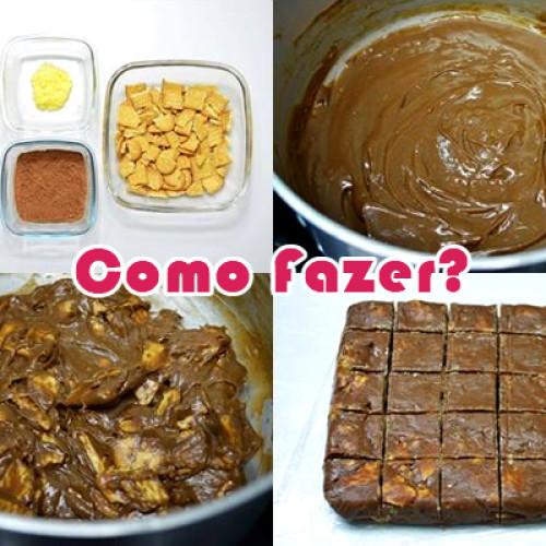 Como fazer receita de Palha Italiana – Brigadeiro + Maizena