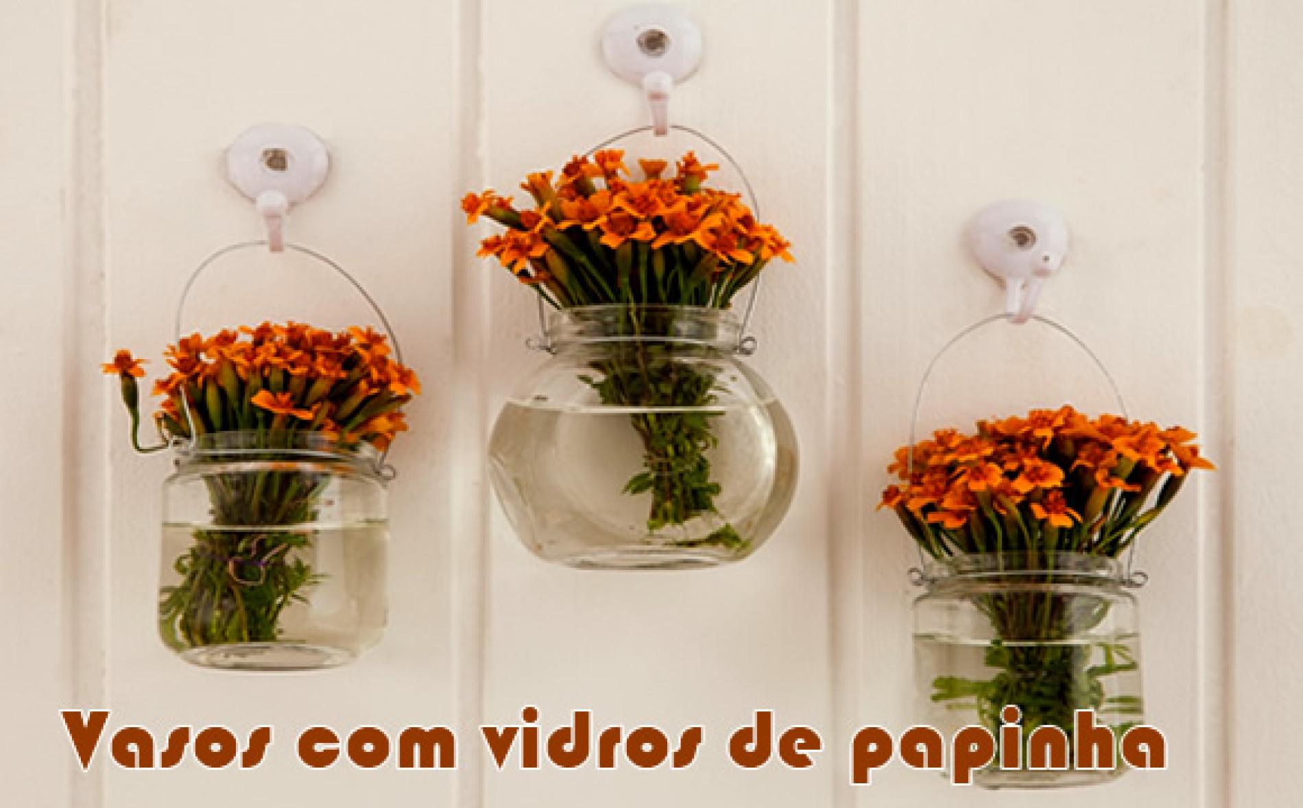 Como fazer vasos de flores com vidro de papinha