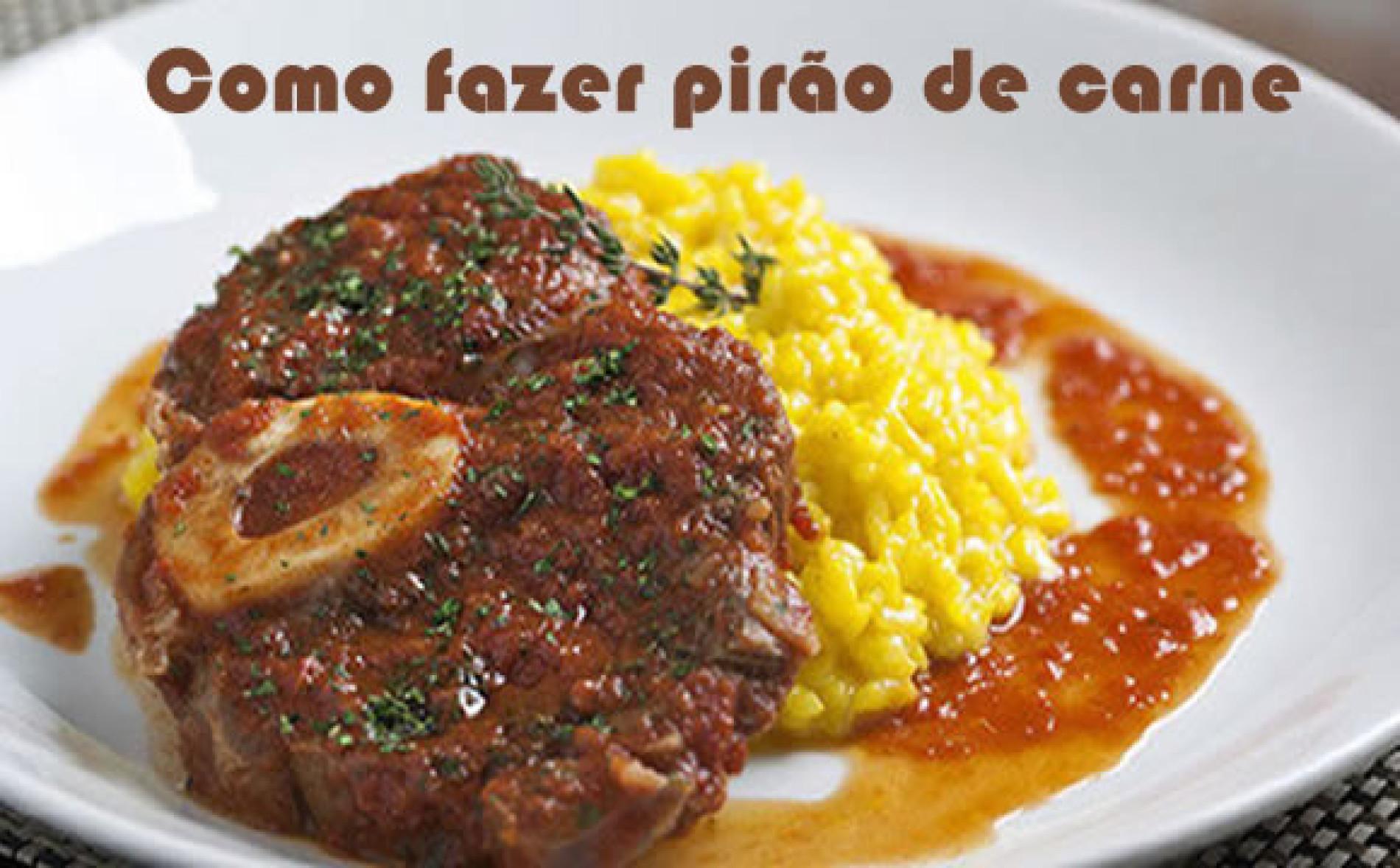 Como fazer a receita de Pirão de Carne com Alho