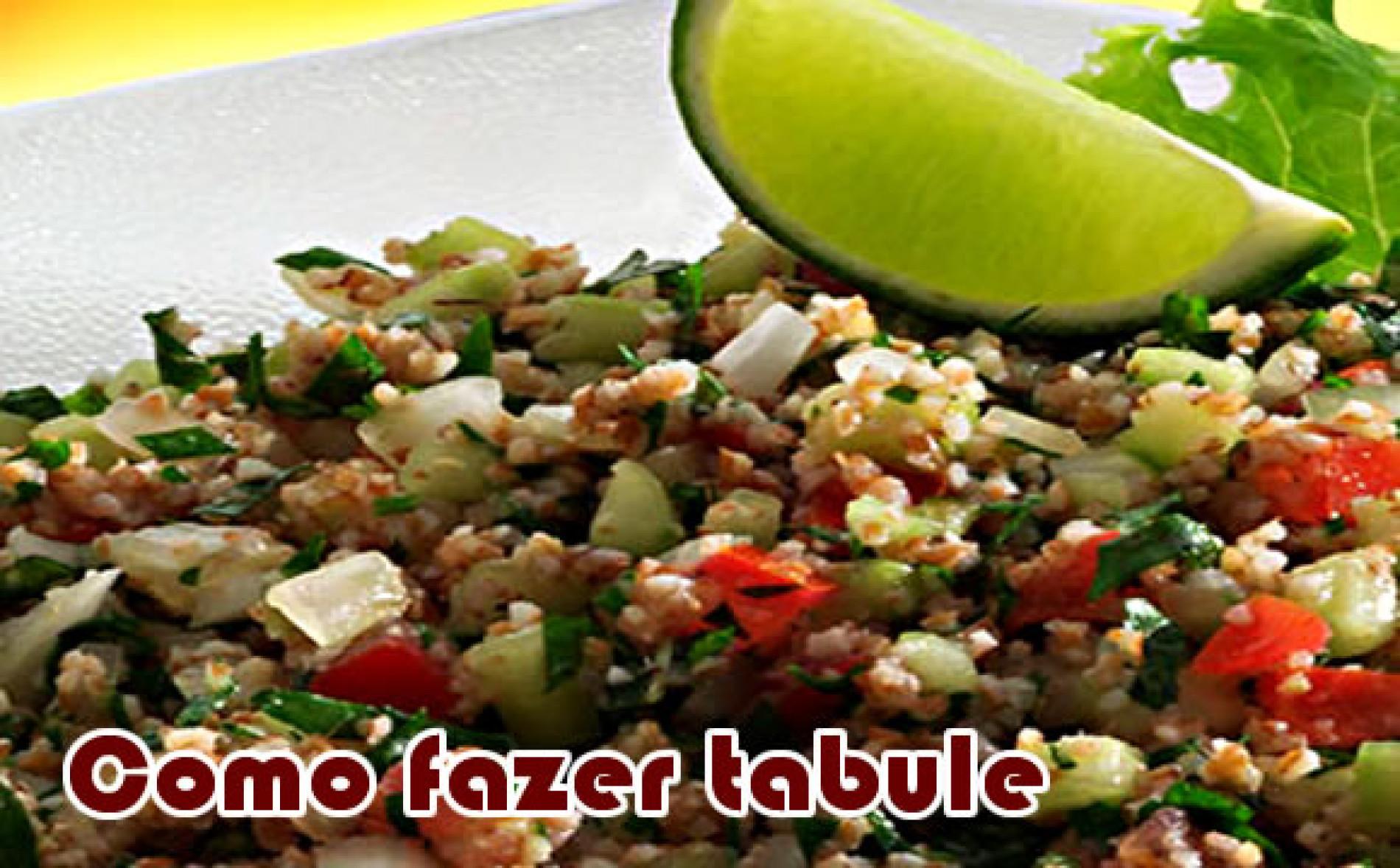 Como fazer um delicioso Tabule