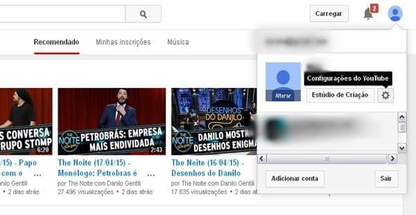 configuracoes video youtube hd