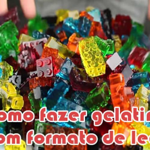 Como fazer gelatina / bala de goma em forma de lego
