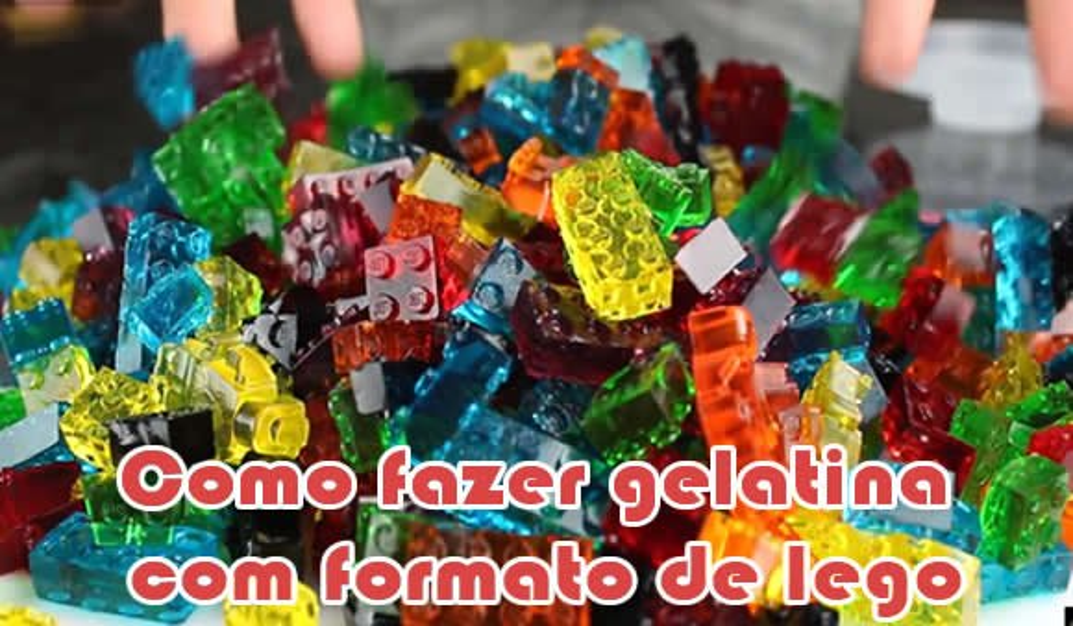 como fazer gelatina bala de goma formato lego
