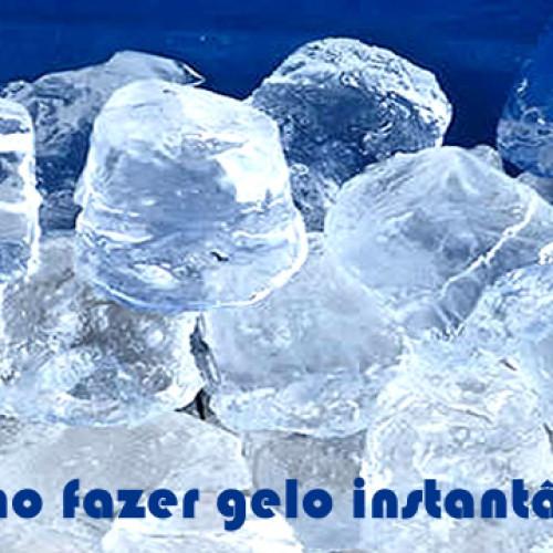 Como fazer gelo instantaneo sem quimica