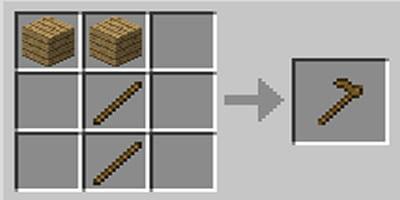 como fazer enxada hoe no minecraft