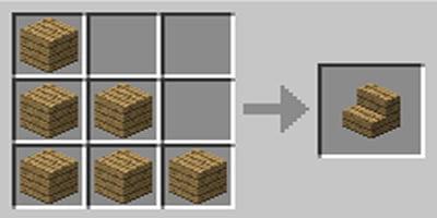como fazer escada stair no minecraft