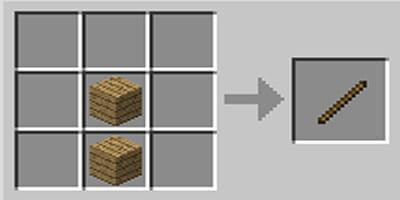 como fazer graveto stick minecraft